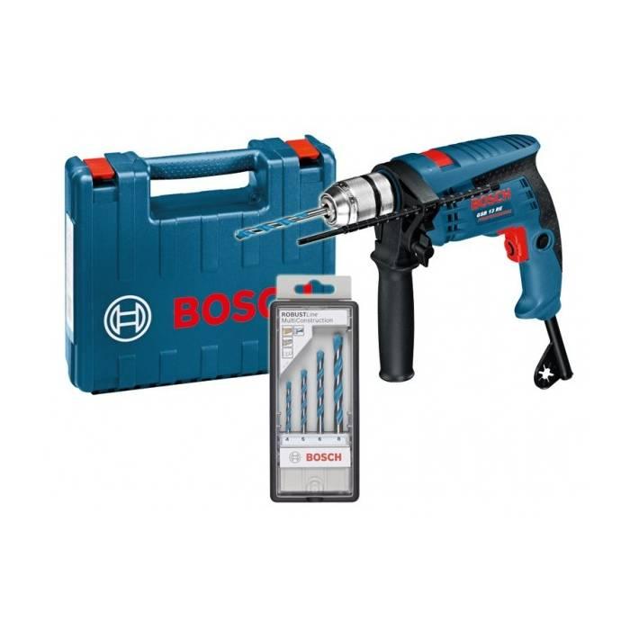 Bormașină +set de biți de foraj Bosch GSB 13 RE BOX ACC
